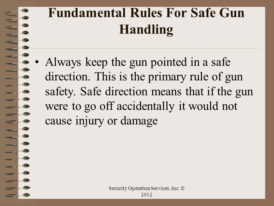 Fundamental Rules For Safe Gun Handling