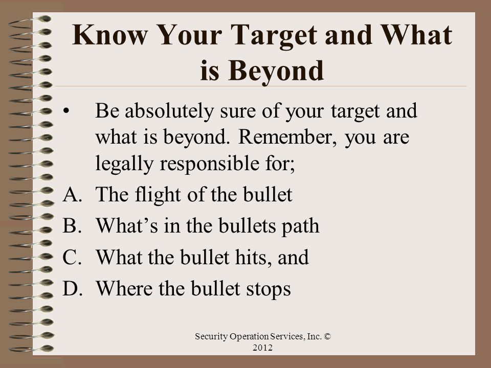 Know Your Target and What is Beyond