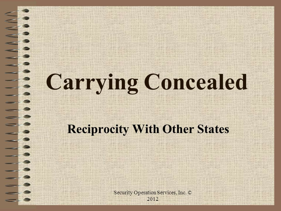 Reciprocity With Other States