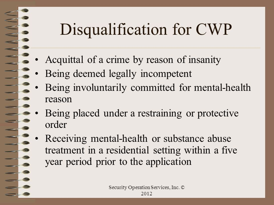 Disqualification for CWP