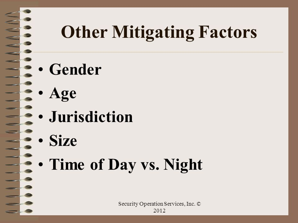 Other Mitigating Factors