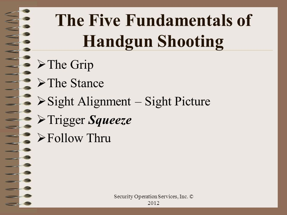 The Five Fundamentals of Handgun Shooting