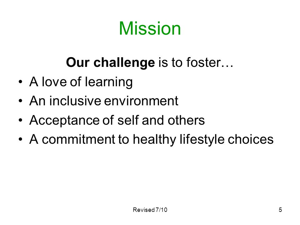 Our challenge is to foster…