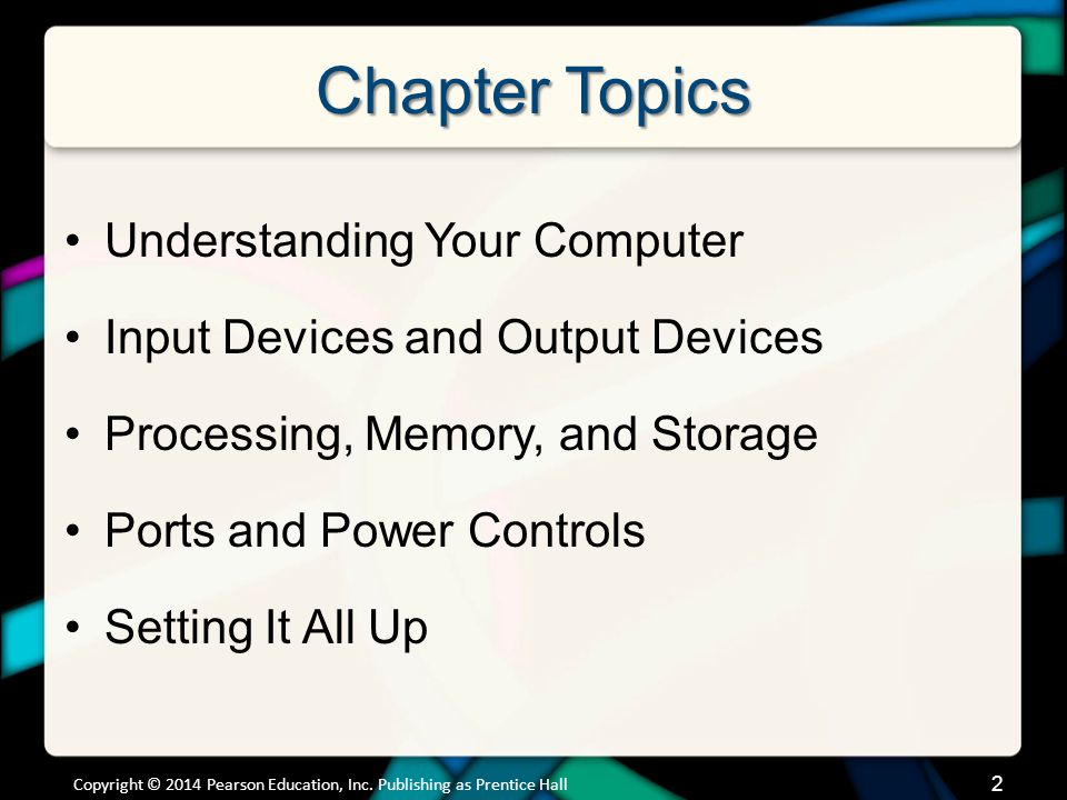 Understanding Your Computer Computers are Data Processing Devices