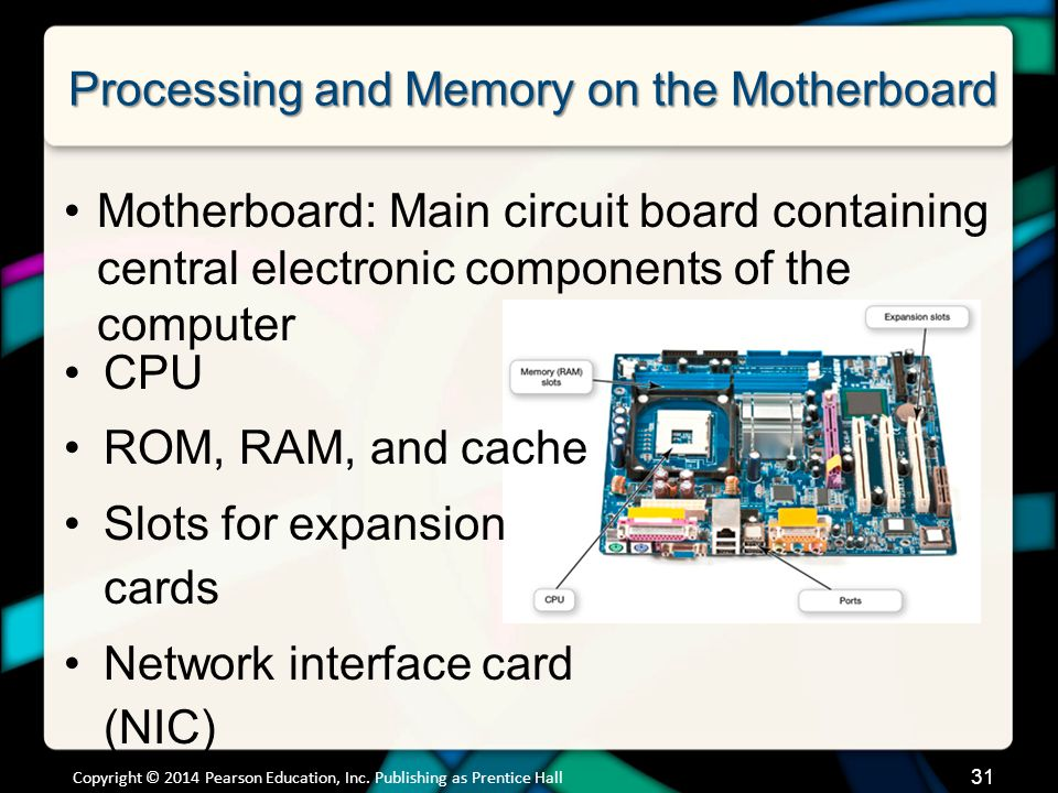 Processing and Memory on the Motherboard Memory