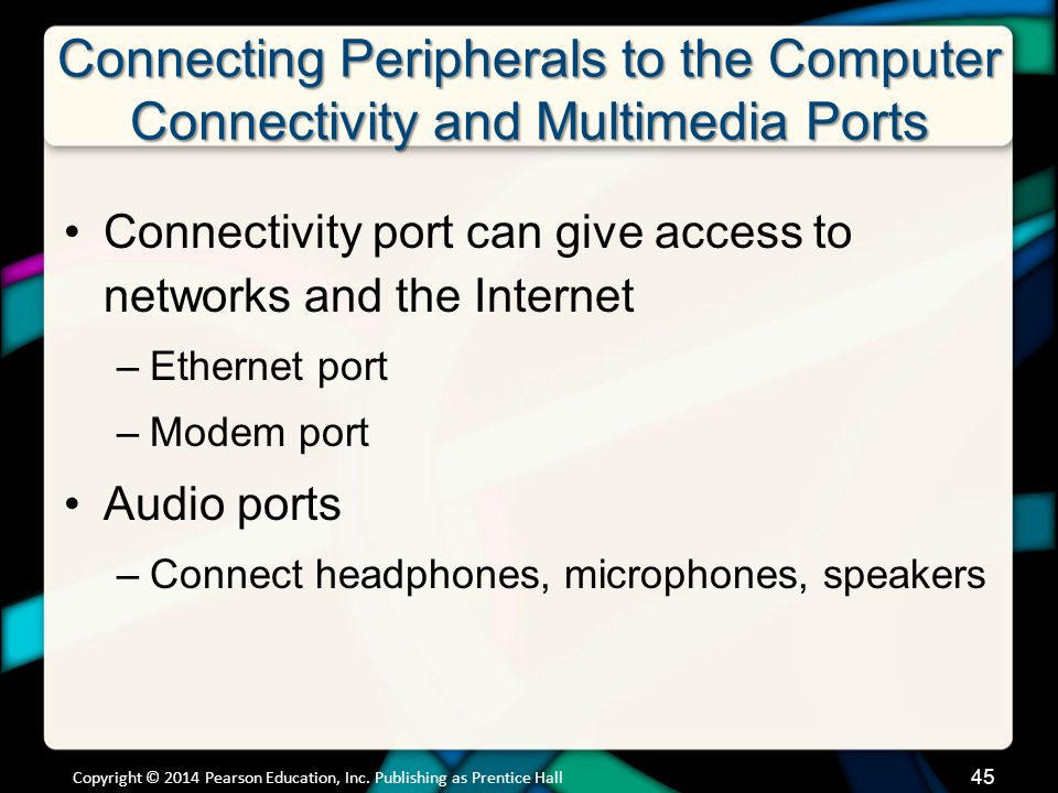 Connecting Peripherals to the Computer Connectivity and Multimedia Ports