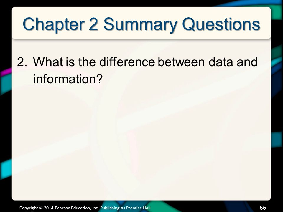 Chapter 2 Summary Questions