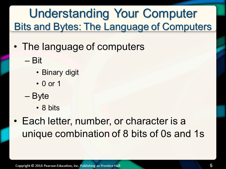 Understanding Your Computer Bits and Bytes: The Language of Computers (cont.)