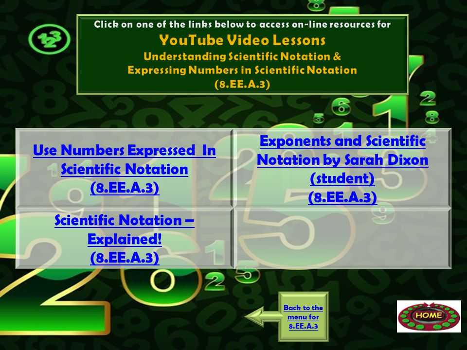 Use Numbers Expressed In Scientific Notation (8.EE.A.3)