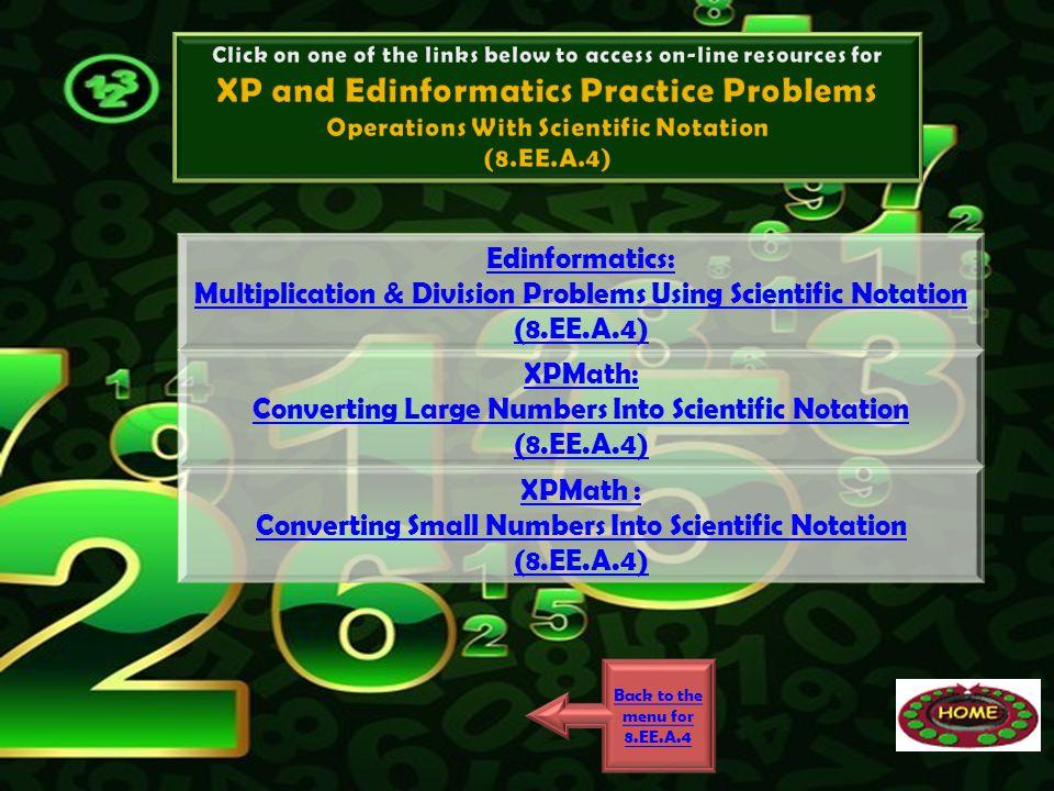 XP and Edinformatics Practice Problems