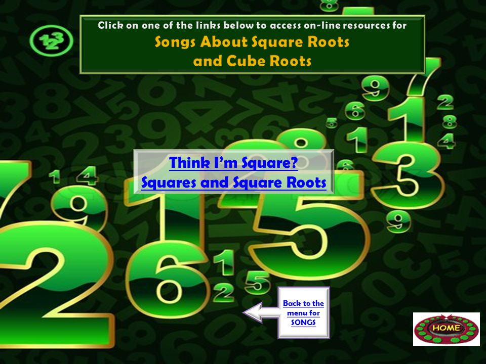Songs About Square Roots and Cube Roots