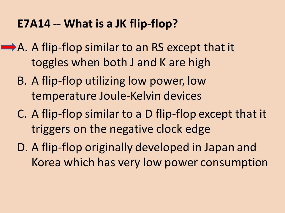 E7A14 -- What is a JK flip-flop