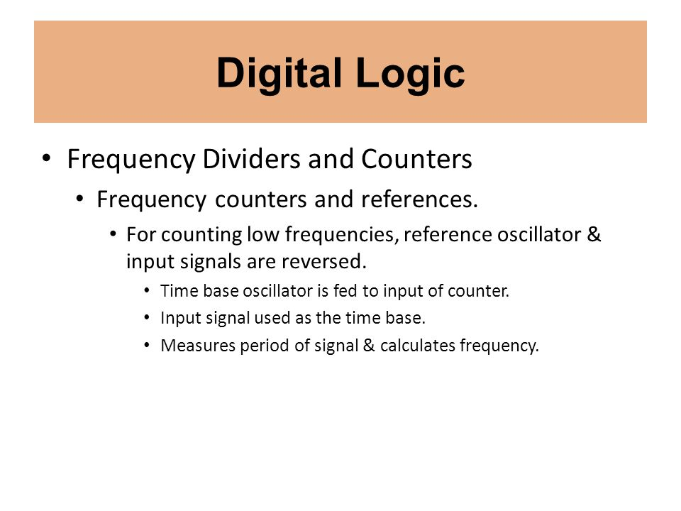 Digital Logic Frequency Dividers and Counters