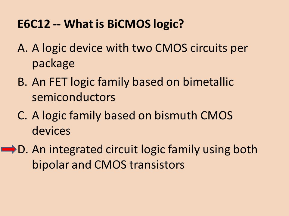 E6C12 -- What is BiCMOS logic