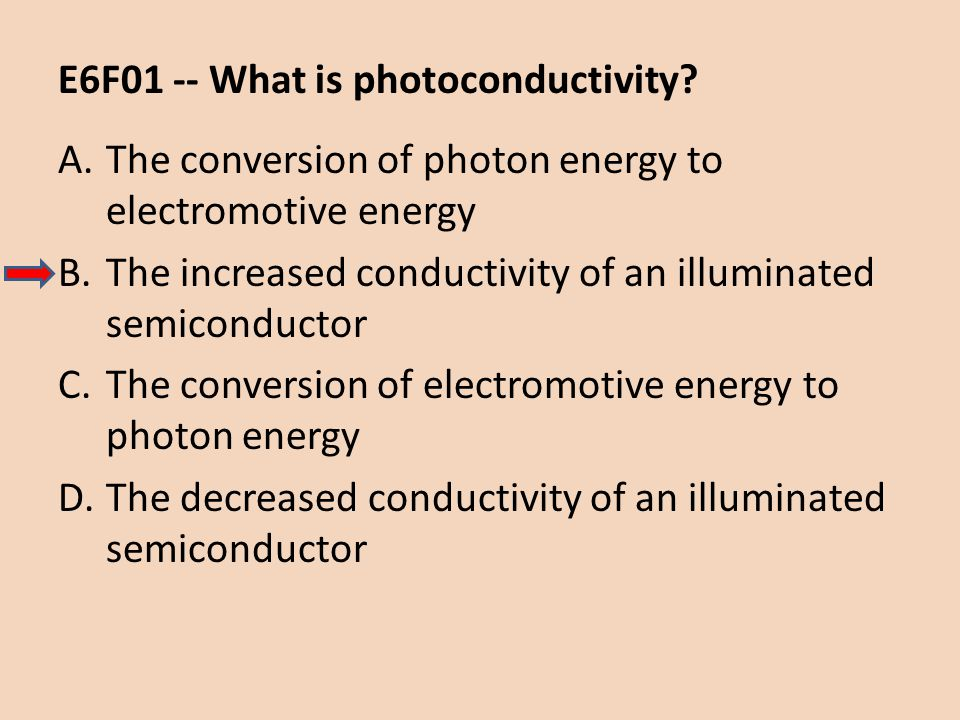 E6F01 -- What is photoconductivity
