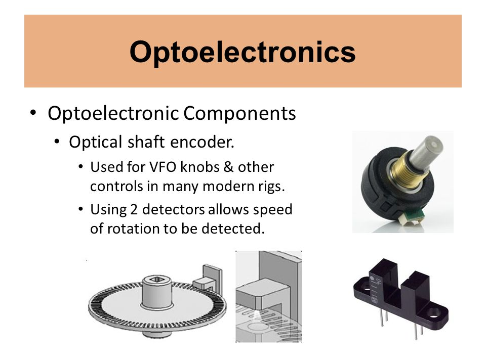Optoelectronics Optoelectronic Components Optical shaft encoder.