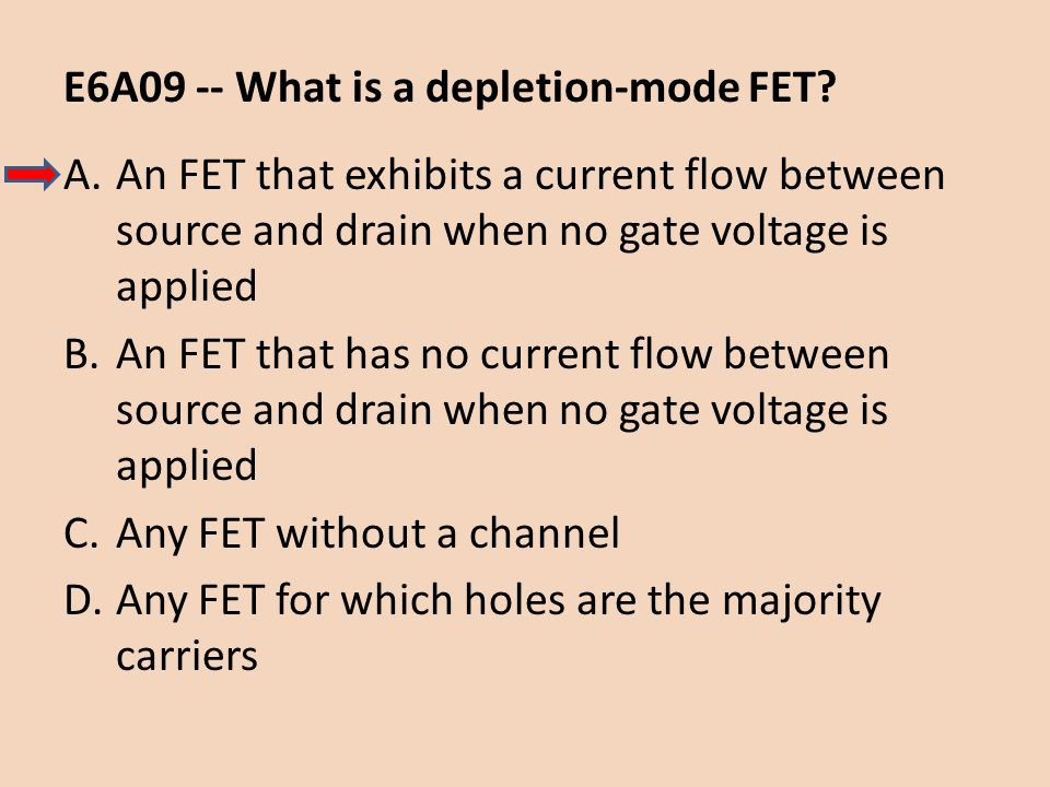 E6A09 -- What is a depletion-mode FET