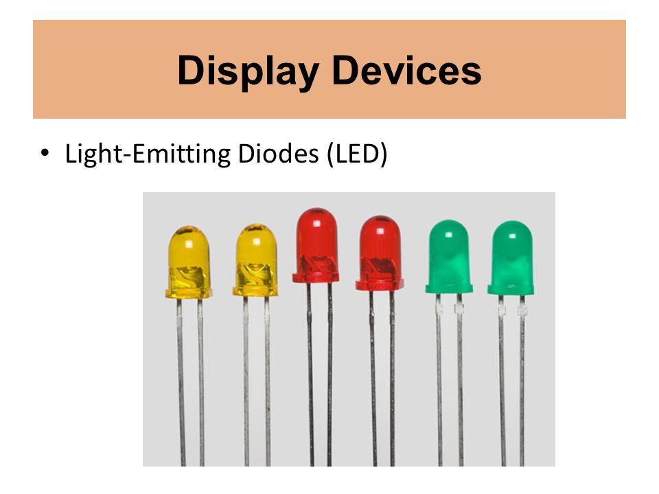 Display Devices Light-Emitting Diodes (LED)
