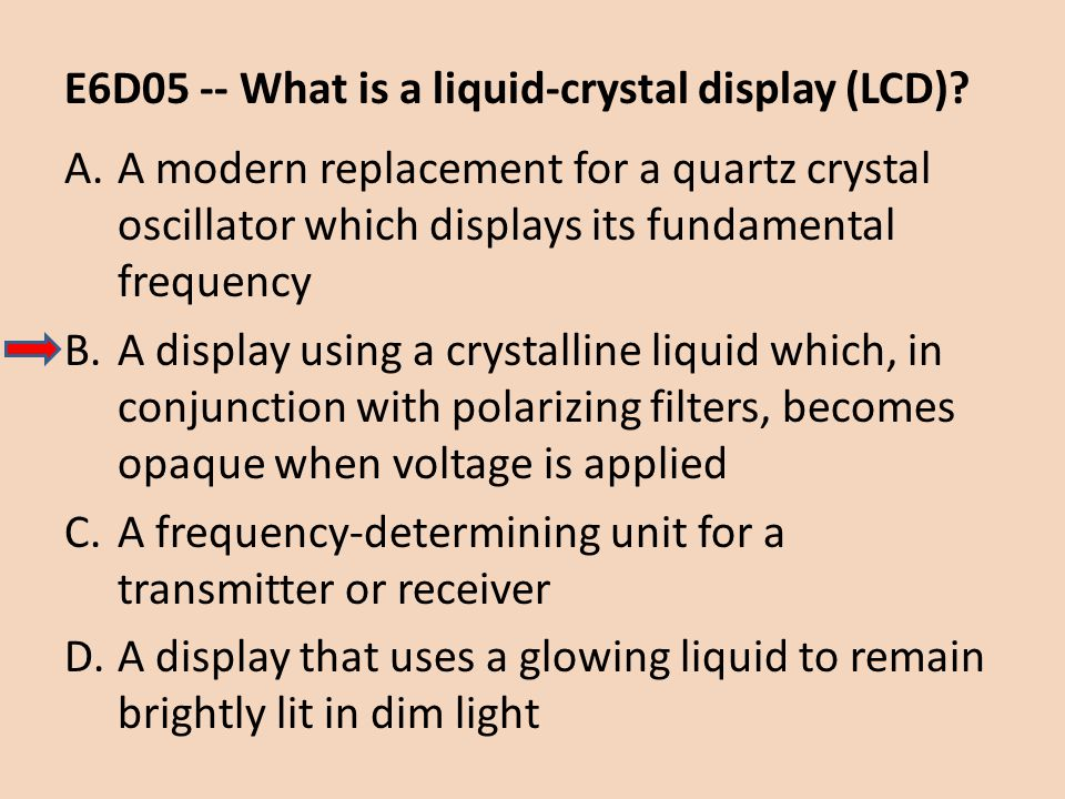 E6D05 -- What is a liquid-crystal display (LCD)