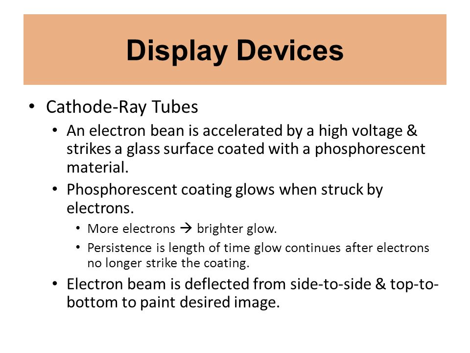 Display Devices Cathode-Ray Tubes