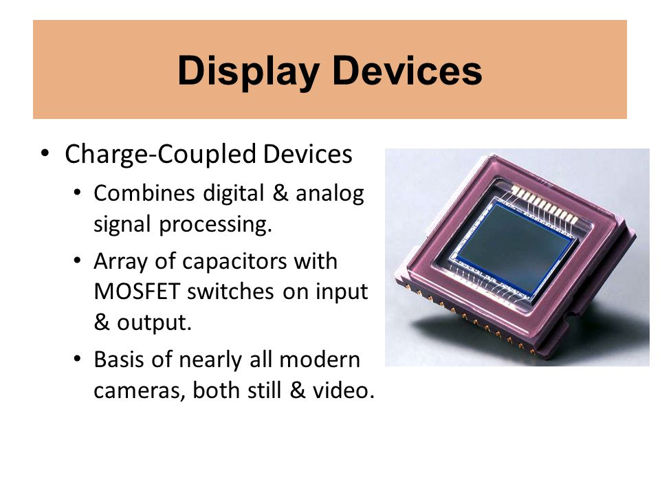 Display Devices Charge-Coupled Devices