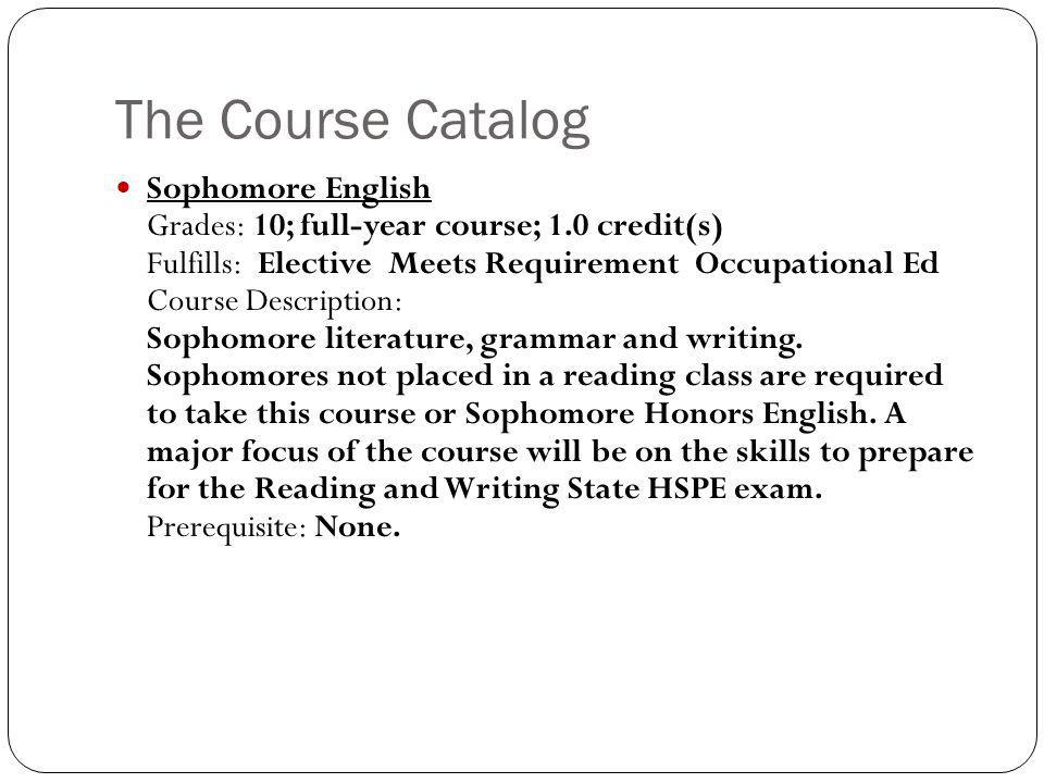 The Course Catalog