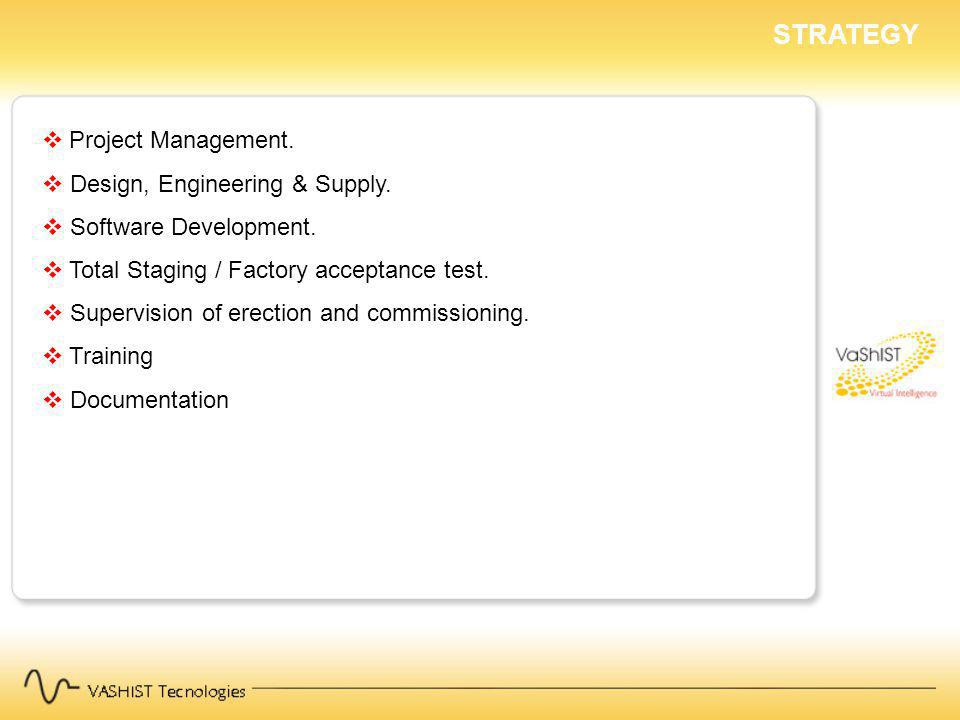 STRATEGY Project Management. Design, Engineering & Supply.