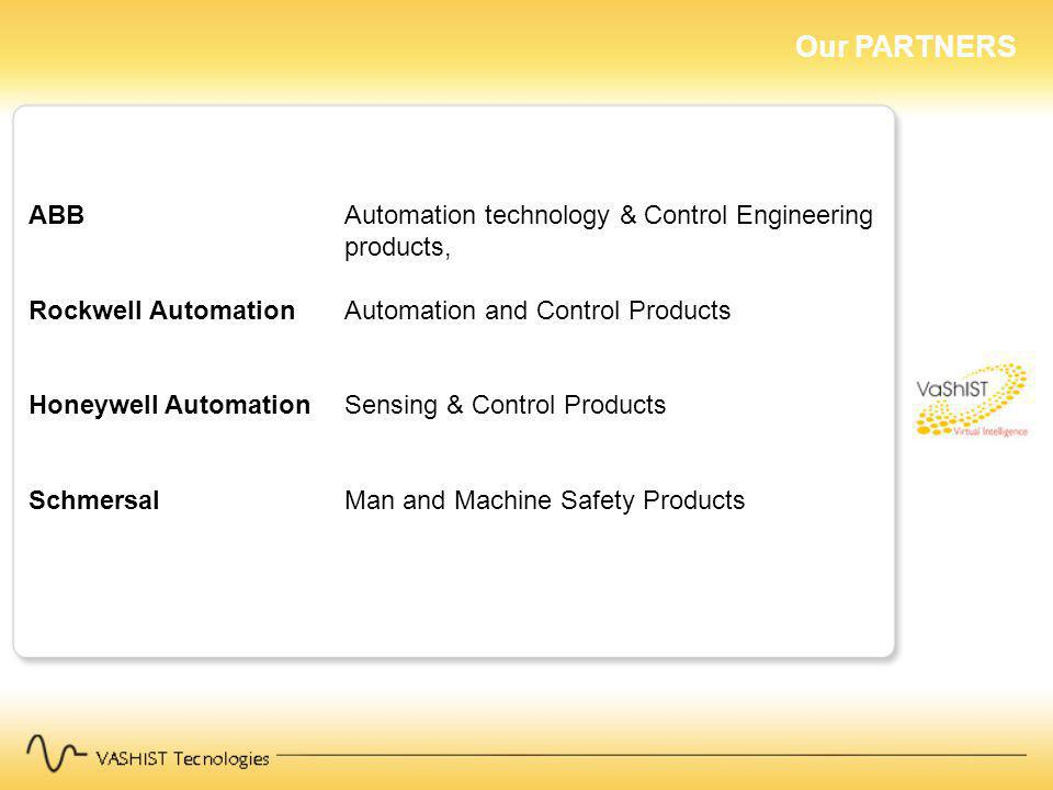 Our PARTNERS ABB Automation technology & Control Engineering products,