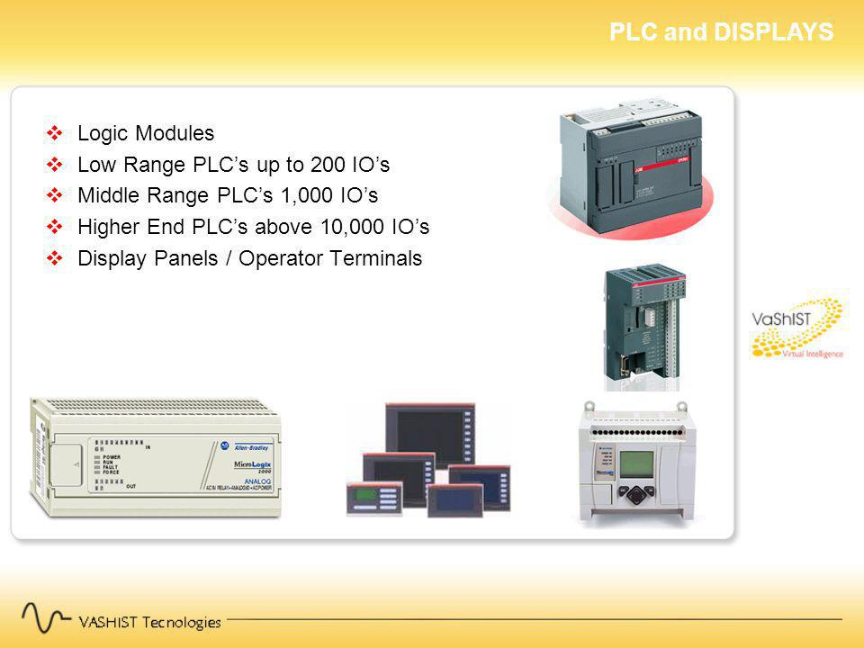 PLC and DISPLAYS Logic Modules Low Range PLC's up to 200 IO's