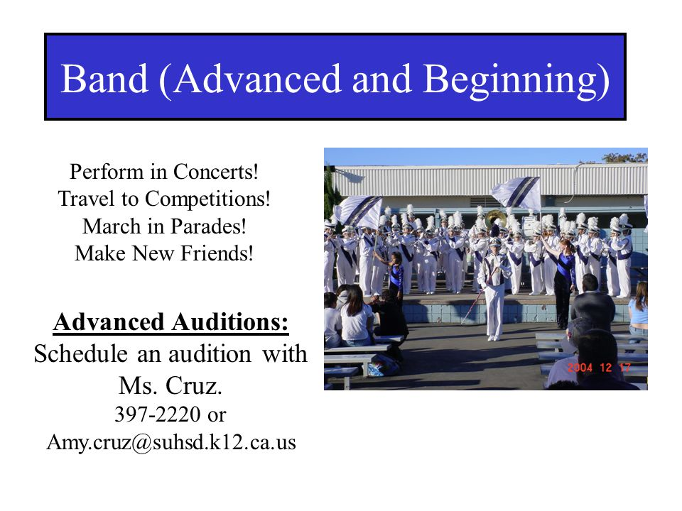 Band (Advanced and Beginning)
