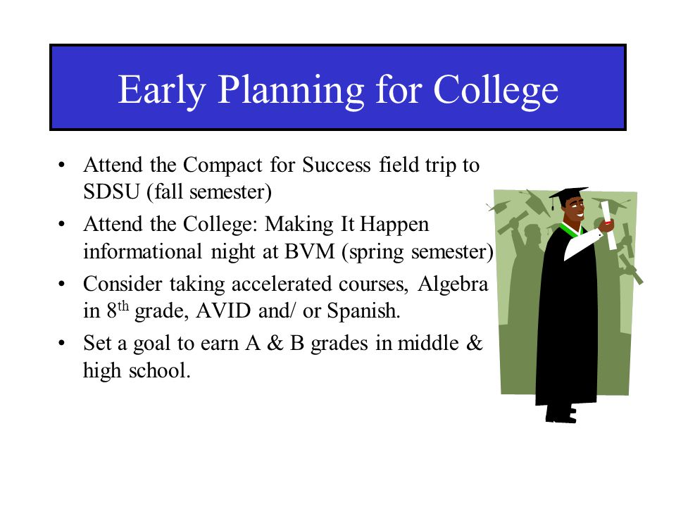 Early Planning for College