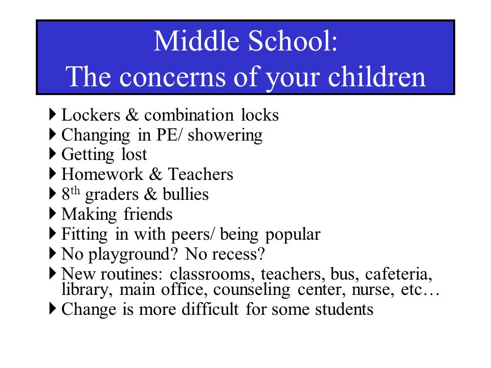 The concerns of your children
