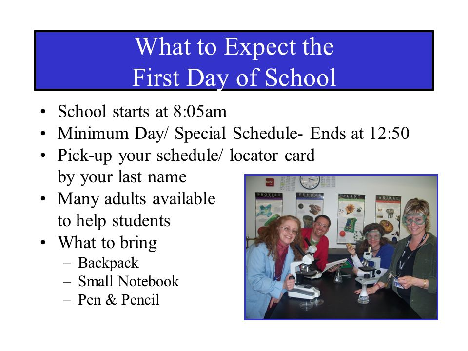 What to Expect the First Day of School