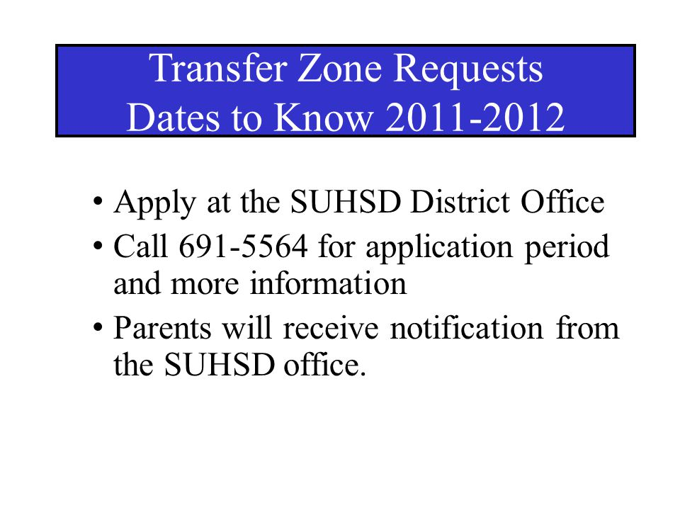 Transfer Zone Requests