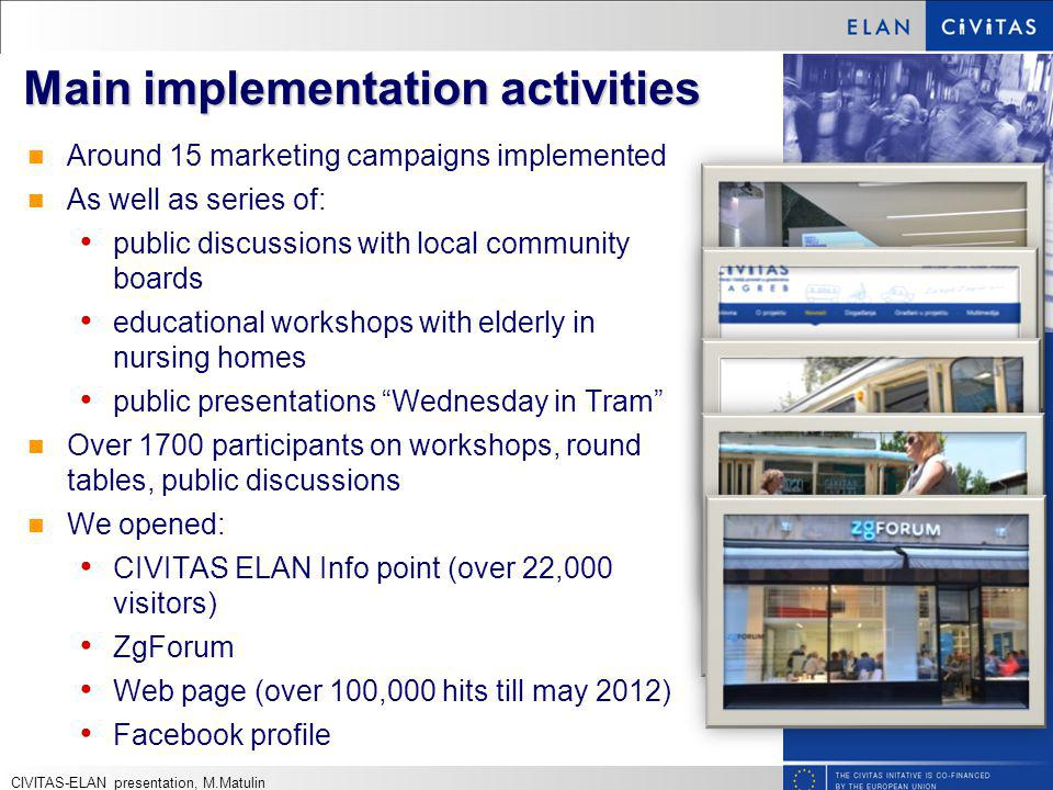 Main implementation activities