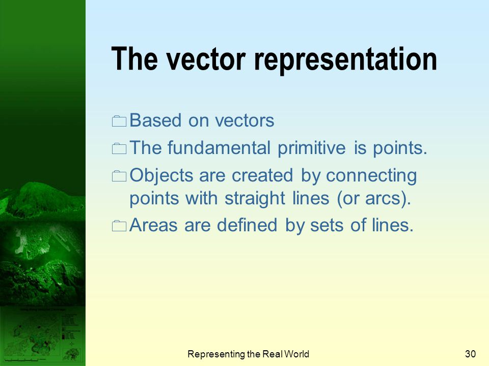 The vector representation