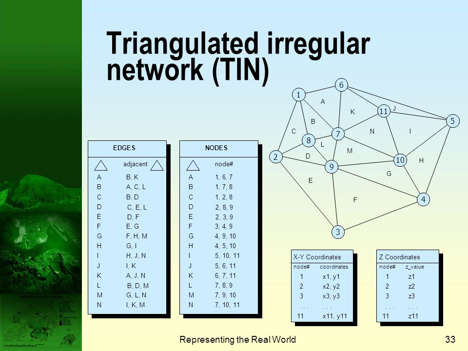 Triangulated irregular network (TIN)