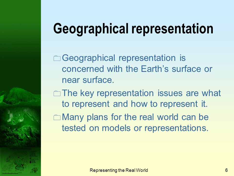 Geographical representation