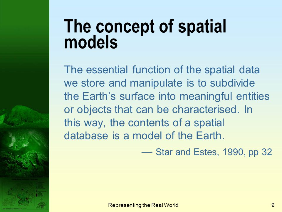 The concept of spatial models