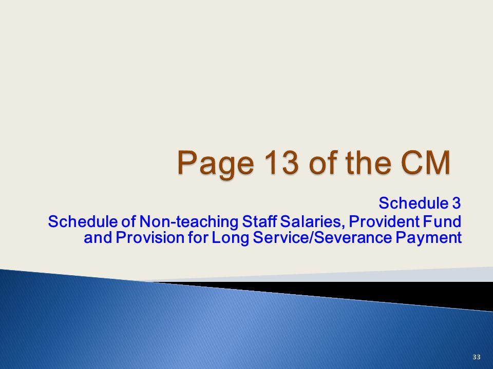 Page 13 of the CM Schedule 3.