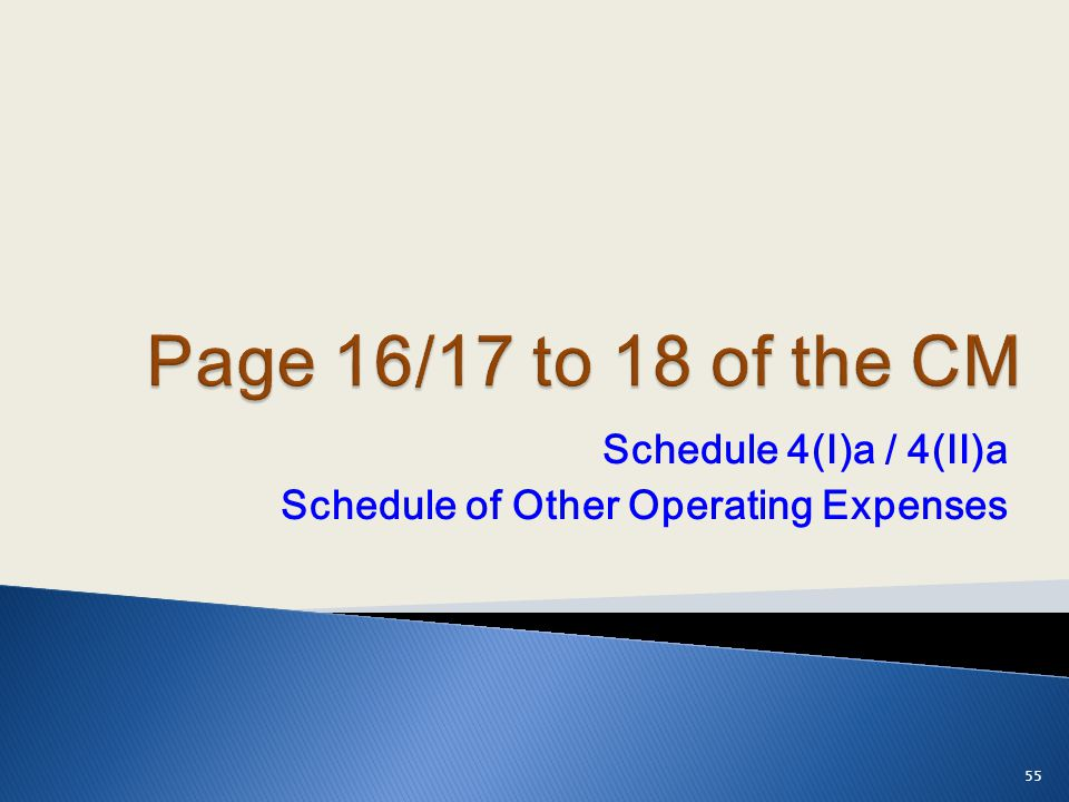 Schedule 4(I)a / 4(II)a Schedule of Other Operating Expenses