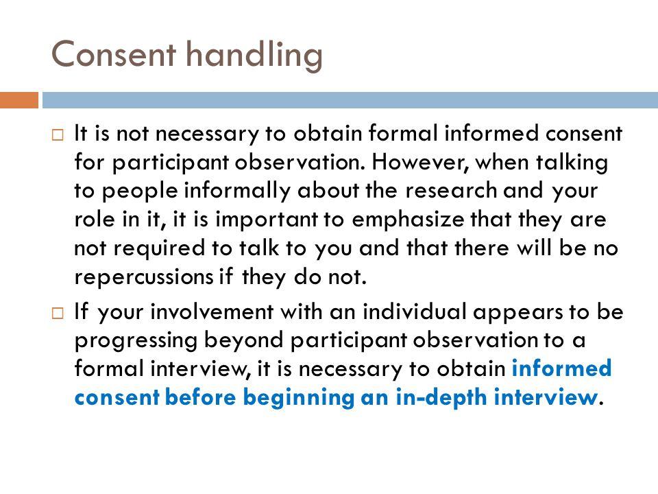 Consent handling