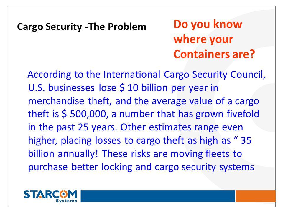 Cargo Security -The Problem