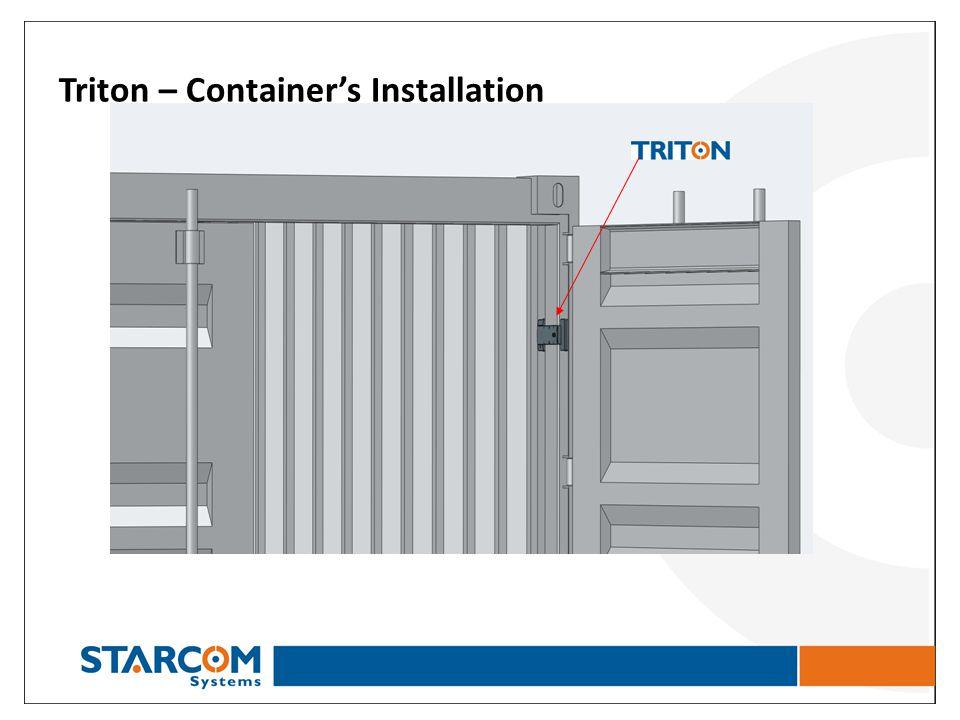 Triton – Container's Installation