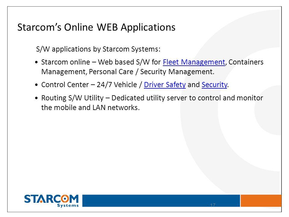 Starcom's Online WEB Applications