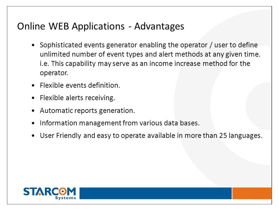Online WEB Applications - Advantages