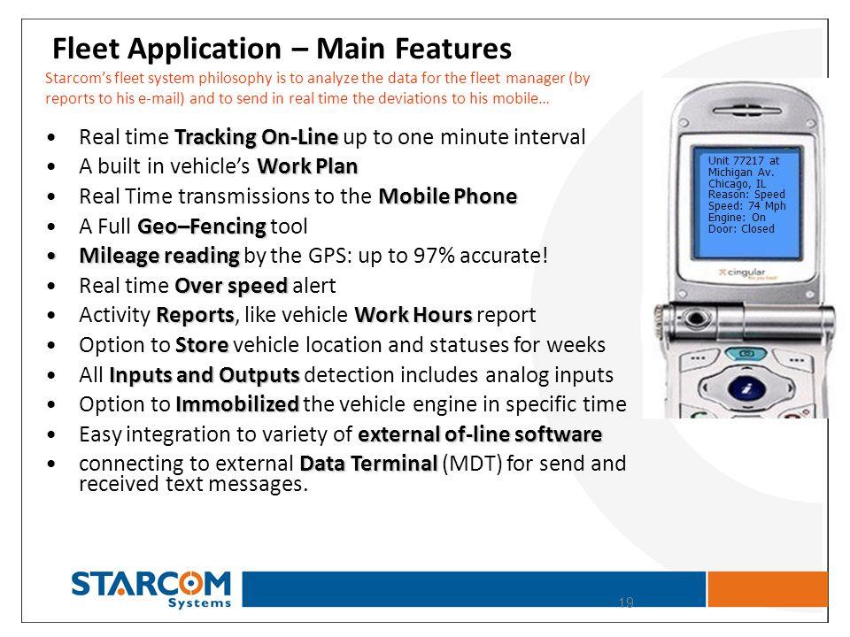 Fleet Application – Main Features