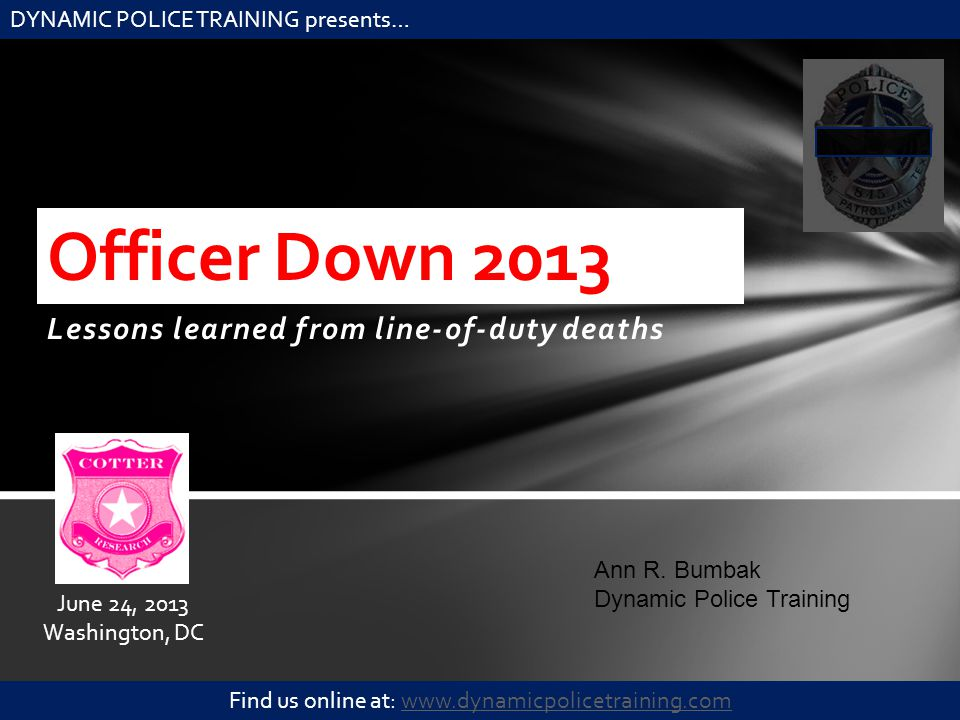Lessons learned from line-of-duty deaths