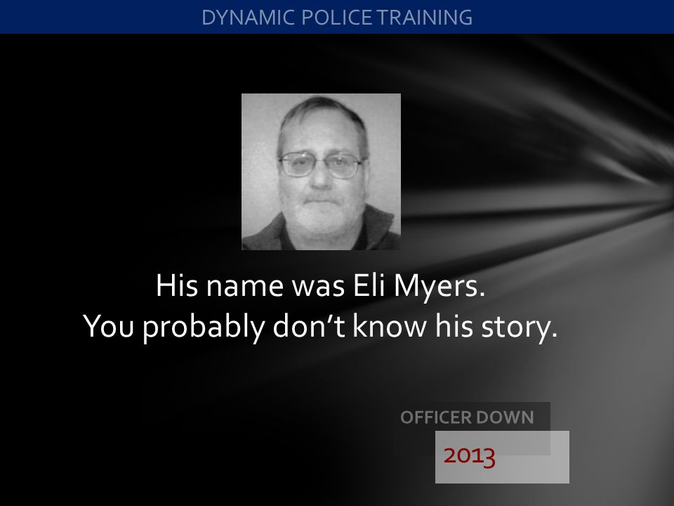 His name was Eli Myers. You probably don't know his story.