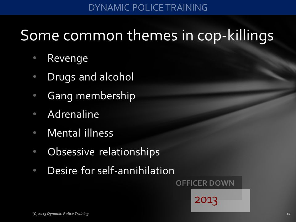Some common themes in cop-killings